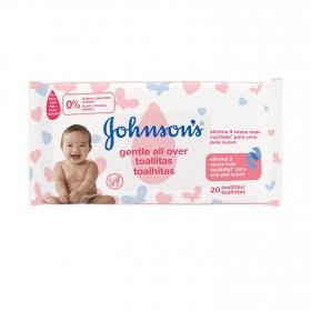 Toallitas Johnson´s Baby Suavidad en cada Paso 20 unidades