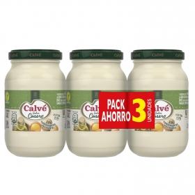Mayonesa casera Calvé pack de 3 tarros de 225 ml.