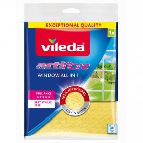 Bayeta cristales Actifibre VILEDA  - Amarilla