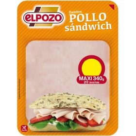 Pollo sandwich lonchas El Pozo 360 g.