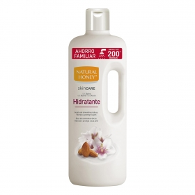 Gel de ducha hidratante con aceite de almendras dulces Natural Honey 1500 ml.