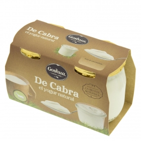 Yogur natural de leche de cabra Goshua 125 g.