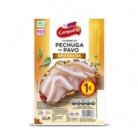 Pechuga de pavo braseada extrajugosa Campofrío sin gluten 80 g.