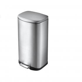 Cubo  de basura de Acero inoxidable Klindo  35 Litros - Metalizado