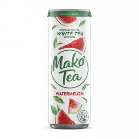 Refresco de té blanco Maktea sabor sandía lata 33,3 cl.