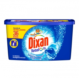 Detergente en cápsulas Duo-Caps Total Dixan 36 ud.