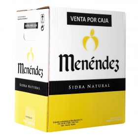 Sidra Menendez natural pack de 6 botellas de 70 cl.