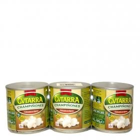 Champiñones enteros Gvtarra sin gluten pack de 3 unidades de 105 g.