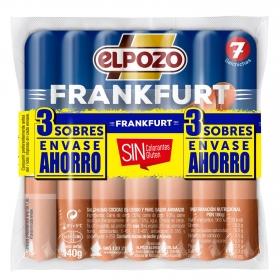 Salchichas Frankfurt El Pozo sin gluten pack de 3 unidades de 140 g.
