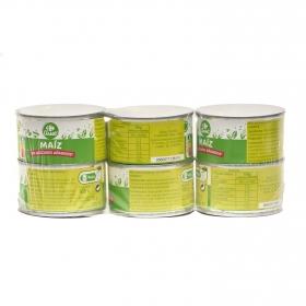Maiz dulce Carrefour pack de 6 unidades de 70 g.