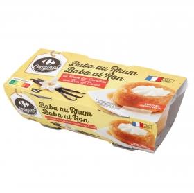 Postre bizcocho al ron Carrefour pack de 2 unidades de 150 g.