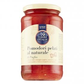 Pomodori pelati naturale di Puglia Terre d'Italia 340 g.
