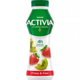 Yogur bífidus líquido de fresa y kiwi Danone Activia 280 g.