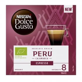 Café expresso Perú ecológico en cápsulas Nescafé-Dolce Gusto 12 ud de 7 g.