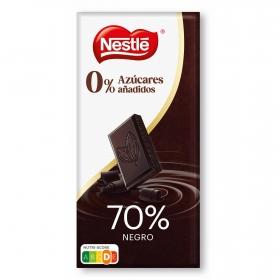 Chocolate negro intenso 70% sin azúcar añadido Nestlé 125 g.