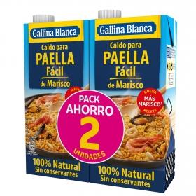 Caldo para paella fácil Gallina Blanca pack de 2 briks de 1 l.