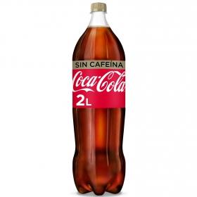 Refresco de cola Coca Cola sin cafeína botella 2 l.