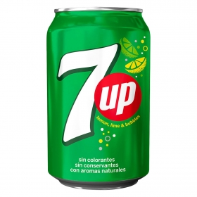 Refresco de lima-limón 7UP con gas lata 33 cl.