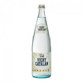 Agua mineral Vichy Catalán natural con gas en botella de vidrio 1 l.