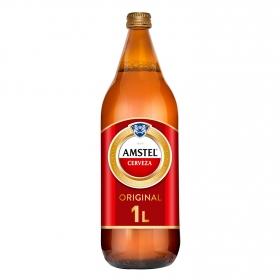 Cerveza Amstel 100% malta botella 1 l.