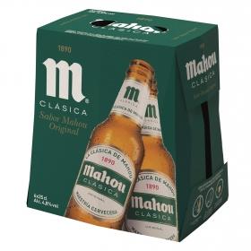 Cerveza Mahou Clásica pack de 6 botellas de 25 cl.
