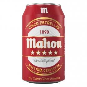 Cerveza Mahou 5 Estrellas especial lata 33 cl.