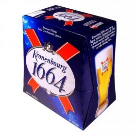 Cerveza Kronenbourg pack de 6 botellas de 25 cl.