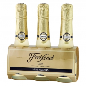 Cava Freixenet semiseco pack de 3 botellas de 20 cl.
