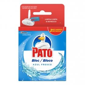 Desodorizante WC en pastilla Azul Fresco Pato 2 recambios.