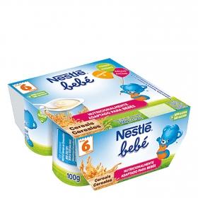 Yogur con cereales Nestlé Bebé sin gluten pack de  4 unidades de 100 g.