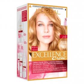 Tinte creme nº 8 Rubio Claro L'Oréal Excellence 1 ud.