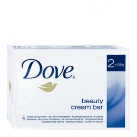 Jabón de manos en pastilla Beauty Cream Bar Dove pack de 2 unidades de 100 g.