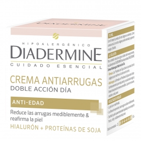 Crema facial antiarrugas doble acción