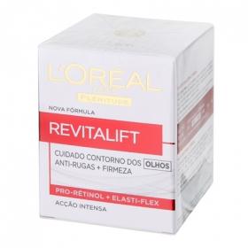 Contorno de ojos Anti-arrugas + firmeza L'Oréal-Revitalift 1 ud.