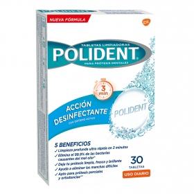 Tabletas limpiadoras para prótesis dentales oxígeno activo