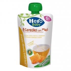Papilla de 8 cereales con miel en bolsita Hero Baby 100 g.