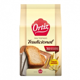 Pan tostado tradicional Ortiz 270 g.