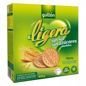 Galletas María sin sal y sin azúcar añadido Gullón 600 g.