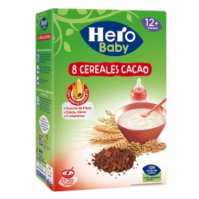 Papilla de 8 cereales con cacao