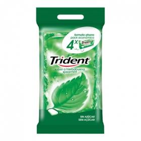 Chicles sabor hierbabuena Trident 4 paquetes de 20 g.