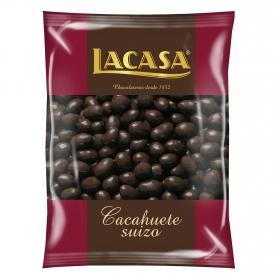Cacahuete suizo cubierto de chocolate Lacasa 500 g.