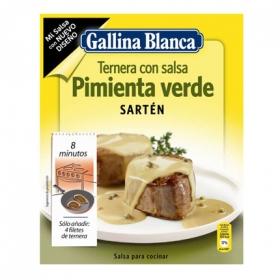 Salsa pimienta verde Gallina Blanca sobre 37 g.