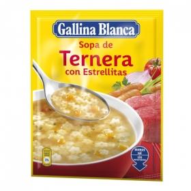 Sopa de ternera con estrellitas Gallina Blanca 74 g.
