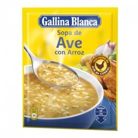 Sopa de ave con arroz