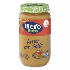 Tarrito de pollo con arroz desde 6 meses Hero Baby natur 235 g.