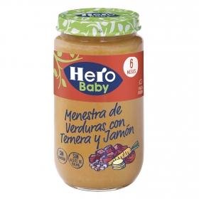 Tarrito de verduras con jamón y ternera desde 6 meses Hero Baby natur 235 g.
