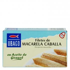 Filetes de caballa en aceite de girasol Ubago 90 g.
