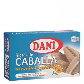 Filetes de caballa en aceite de girasol Dani sin gluten 75 g.