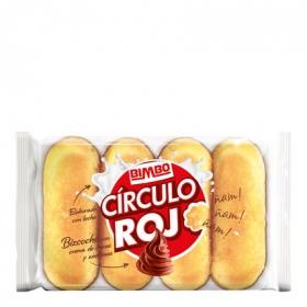 Pastel Círculo Rojo relleno crema de cacao y avellanas Bimbo-Círculo Rojo pack de 4 unidades de 38 g.