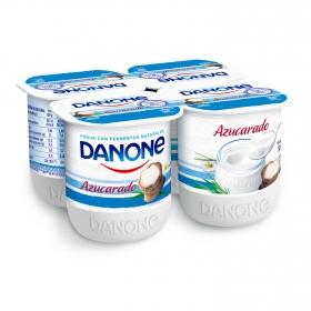 Yogur azucarado natural Danone pack de 4 unidades de 125 g.
